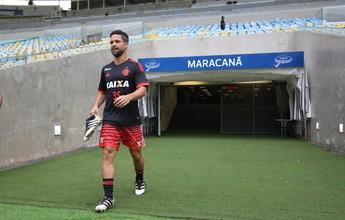 Em casa: Fla treina no gramado do Maraca antes de jogo com Corinthians