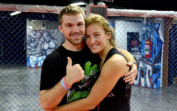 casal Miesha Tate e Bryan Caraway treino MMA (Foto: Adriano Albuquerque / Sportv.com)