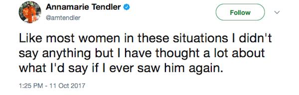 A acusação de assédio contra Ben Affleck feito pela maquiadora Annamarie Tendler (Foto: Twitter)