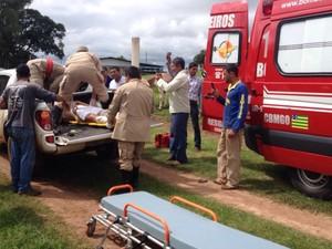 Avião de pequeno porte cai em fazenda de Júnior Friboi, em Nazário, Goiás 4 (Foto: Arquivo pessoal/Ney Xavier Gomes)
