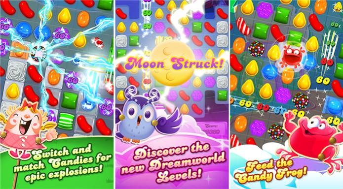 Candy Crush Saga e um viciante puzzle para Windows Phone com centenas de fases e desafios (Foto: Divulgação/Windows Phone Store)