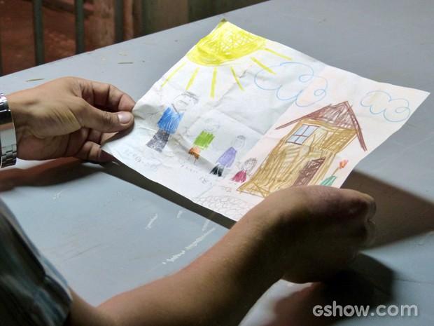Veja o desenho que Antônio fez para Tita (Foto: Malhação / TV Globo)
