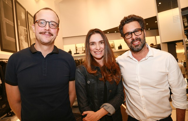 César Bergamo e Adriana Bozon e Luciano Ribeiro (Foto: Carol Rahal )