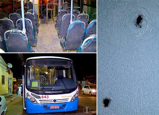 Jovem de 18 anos foi baleado dentro de um ônibus da empresa Oceano   (Foto: Reprodução/Inter TV Cabugi)