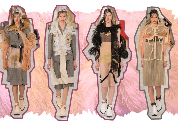 Plumas: Maison Margiela (Foto: Antonio Barros, Getty Images e ImaxTree)