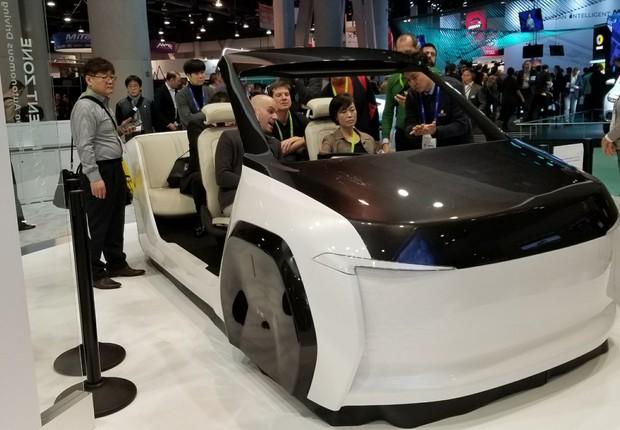 Conceito de carro autônomo da Hyundai, apresentado na CES 2018 (Foto: Natasha de Caiado Castro )