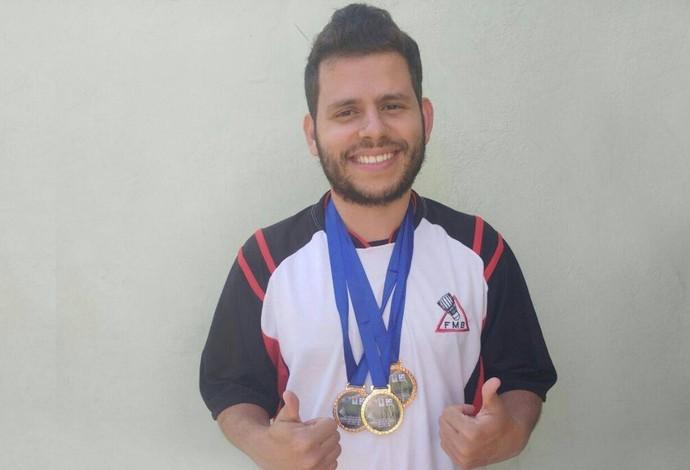 Matheus Rocha atleta surdo de badminton de Uberlândia (Foto: Matheus Rocha/Arquivo Pessoal)
