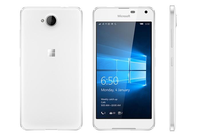 Lumia 650 vem com design em alumínio polido nas cores preto e branco (Foto: Divulgação/Microsoft)