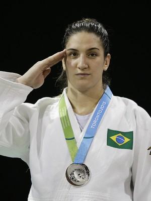 Mayra Aguiar Militar Pan (Foto: AP Photo/Felipe Dana)
