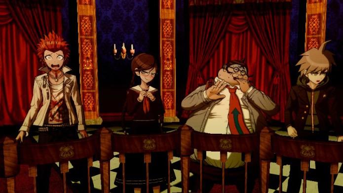 Personagens 2D bem desenhados inseridos em belos ambientes 3D no jogo Danganronpa: Trigger Happy Havoc. (Foto: Divulgação)