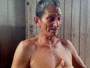 Pescador Eládio  (Foto: Genival Moura/G1)