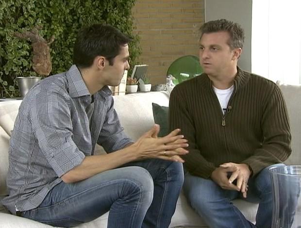 kaka e luciano huck (Foto: Reprodução/TV Globo)