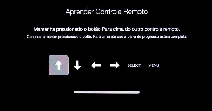 Use o controle para a Apple TV captar os sinais infravermelhos (Foto: Reprodução/Paulo Alves)