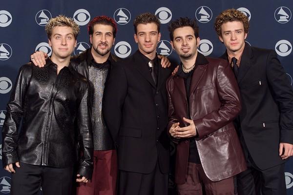 O antigo grupo 'N Sync em seu primeiro Grammy no ano de 2000 (Foto: Getty Images)