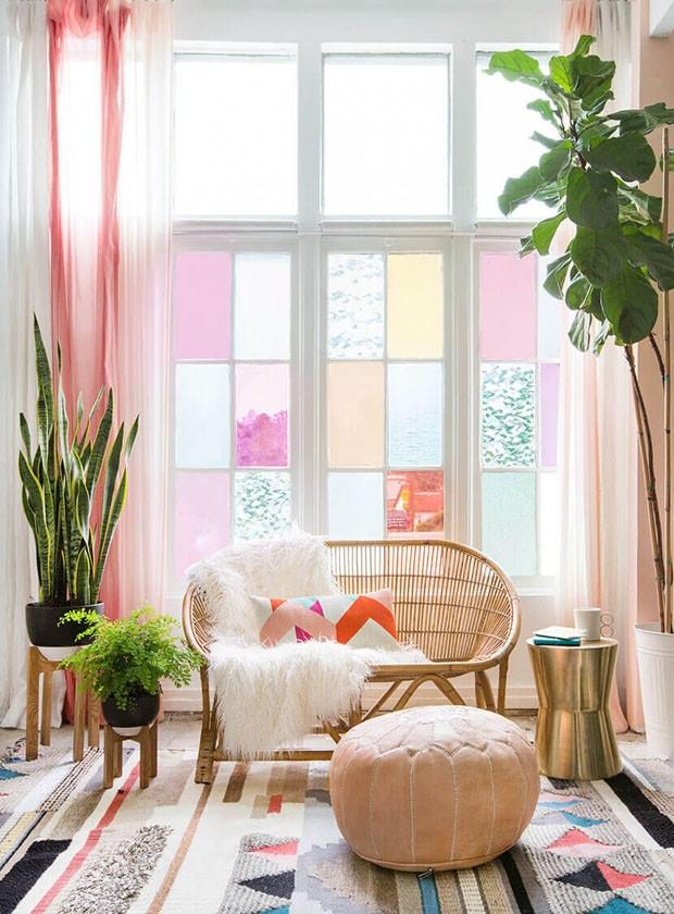 Décor do dia: sala com janela do piso ao teto (Foto: Reprodução)