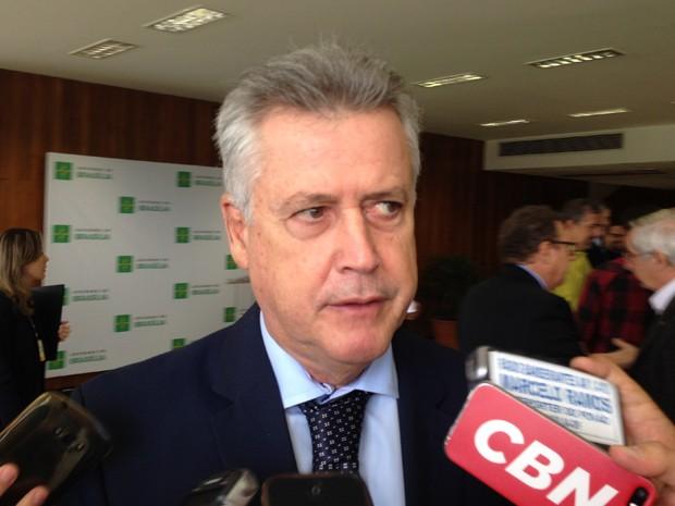 Governador Rodrigo Rollemberg durante coletiva no Palácio do Buriti (Foto: Gabriel Luiz/G1)