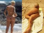 Depois de 'bumbum perfeito' na web, Amber Rose mostra celulites em praia