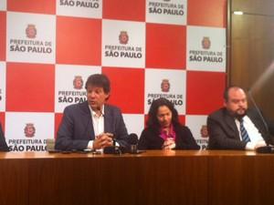 Haddad dá coletiva sobre suspensão da inspeção veicular (Foto: Paulo Piza/ G1)