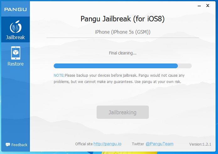 Aguardando o Pangu finalizar o Jailbreak (Foto: Reprodução/Edivaldo Brito)