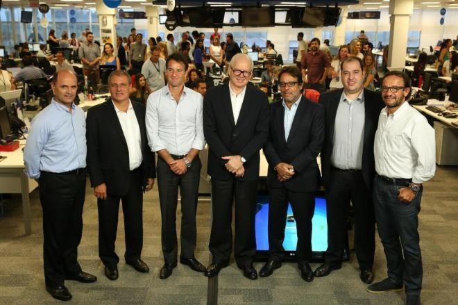 Acionistas da RBS e novos proprietários  (Foto: Rodrigo Favero/Agência RBS)