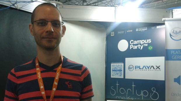 O músico Daniel Cukier é um dos responsáveis pela plataforma (Foto: Isabela Moreira)