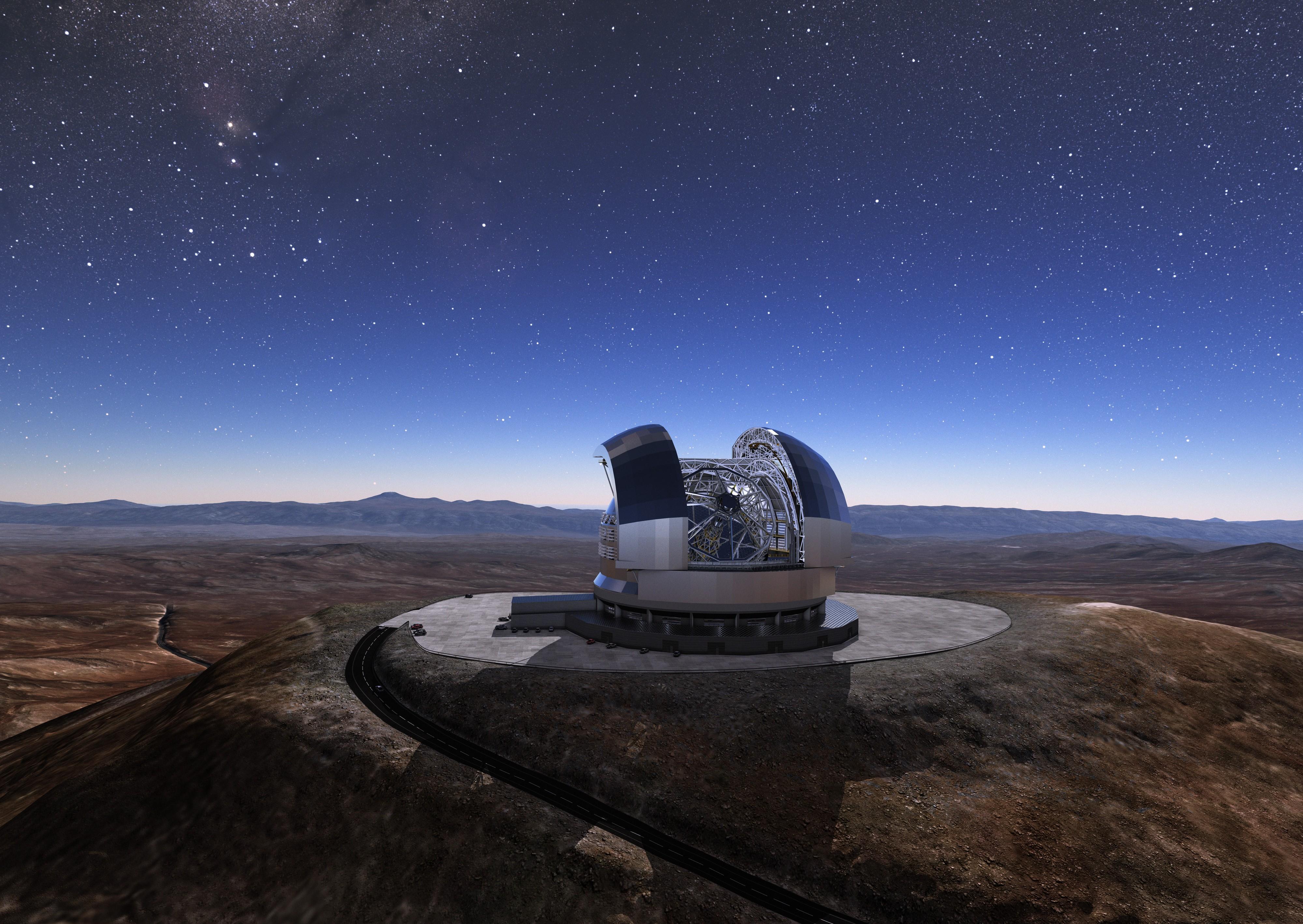 Concepção artística do ELT (Foto:  European Southern Observatory)