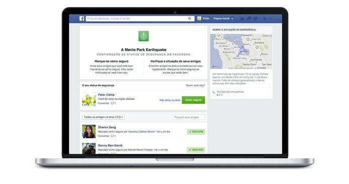 Safety Check: Confirmação de Status de Segurança no Facebook (Foto: Divulgação/Facebook)