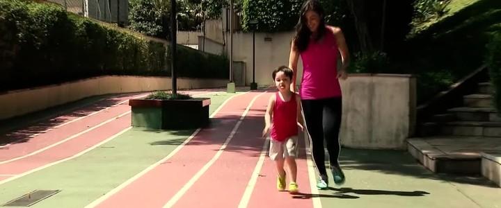 Mãe, médica e atleta: Giuli Pansera inclui filho nos treinos