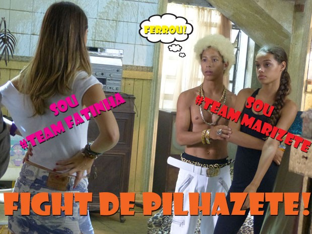 VISH! Fatinha não quer saber de outra Pilhazete na parada não! Sai fora, Marizete (Foto: Malhação / Tv Globo)
