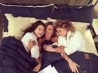 Nathalia Dill, Alinne Moraes e diretora de 'Rock Story' brincam nos bastidores