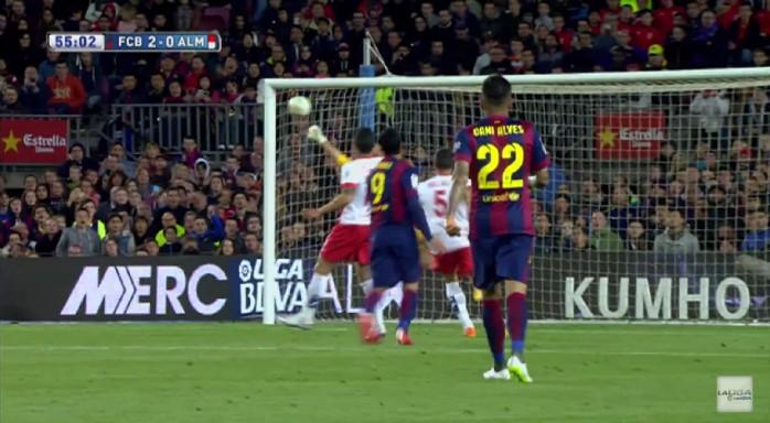 Luis Suárez golaço Barcelona Almería