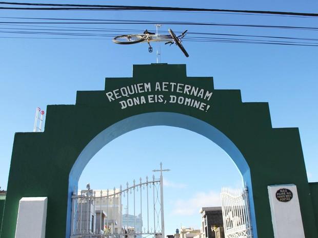 A Prefeitura está usando as redes sociais para procurar o dono da bicicleta (Foto: Divulgação/Prefeitura de Palmeira)