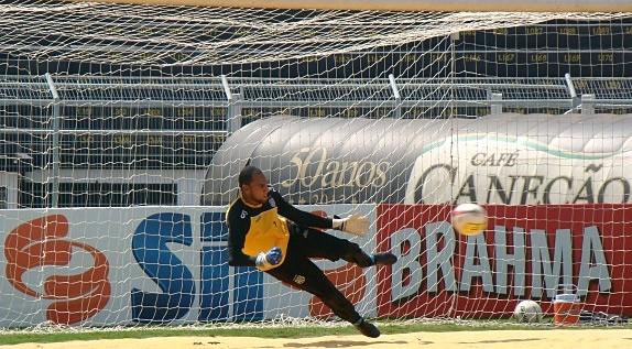 Bruno é o novo titular do gol da Ponte (Foto: Reprodução EPTV)