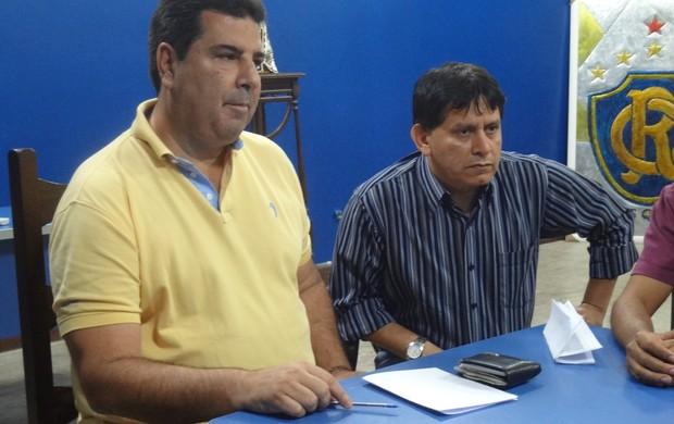 Zeca Pirão e Maurício Bororó - Remo (Foto: Thiago Lopes / GLOBOESPORTE.COM)