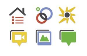 Ícones do Google+, a rede social do Google (Foto: Divulgação)