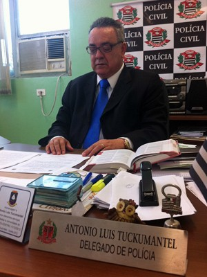 Antonio Lu&#237;s Tuckumantel, delegado do 3&#186; distrito policial (Foto: Kleber Tomaz/G1)