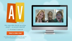 AV by AIM, chat online com vídeoconferência