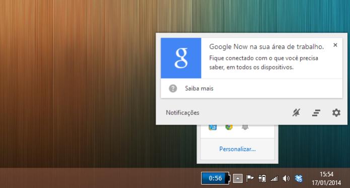 O Google Now pode aparecer já no primeiro acesso, na central de notificações (Foto: Reprodução/Paulo Alves) (Foto: O Google Now pode aparecer já no primeiro acesso, na central de notificações (Foto: Reprodução/Paulo Alves))