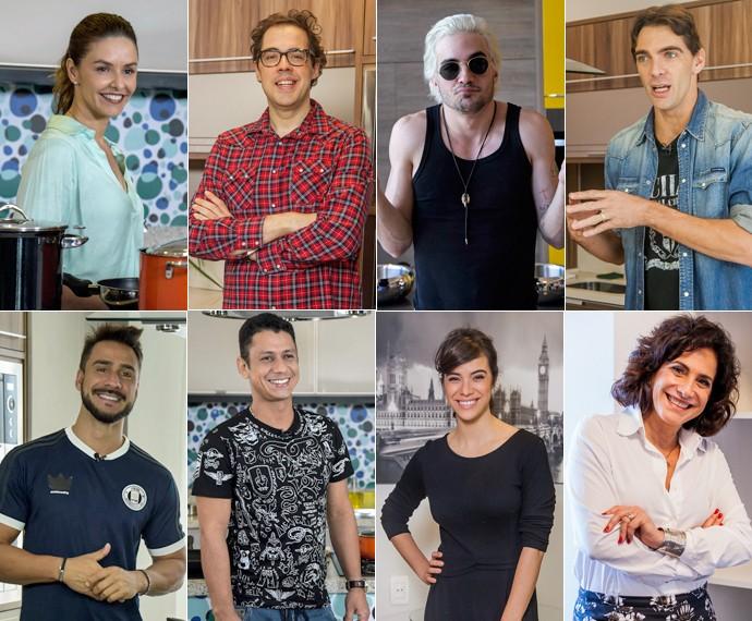 Mais Você apresenta os participantes do SuperChef Celebridades 15 (Foto: Artur Meninea e Raphael Dias/Gshow)