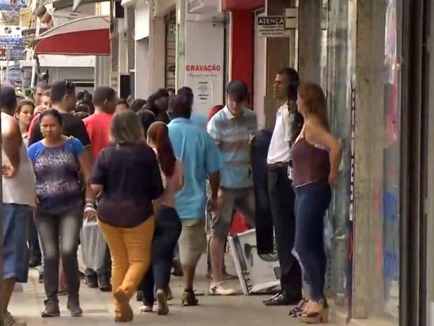 Comércio do centro de Campo Grande, Mato Grosso do Sul (Foto: Reprodução/TV Morena)