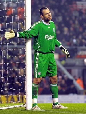 Diego Cavalieri, goleiro do Liverpool (Foto: AFP)