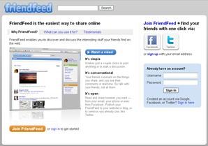 friendfeed comunidade acessar