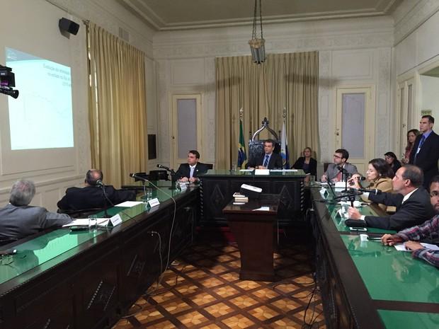 Sessão da CPI dos Autos de Resistência foi realizada na Alerj (Foto: Divulgação/ Alerj)