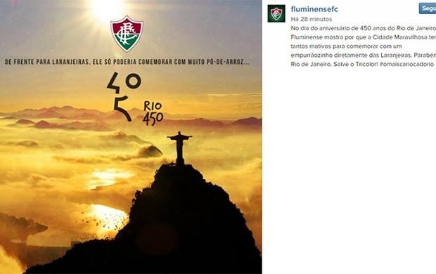 Fluminense homenagem ao Rio no Instagram