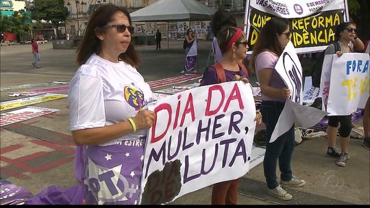 Ato reúne mulheres por direitos iguais e contra reforma da previdência na PB