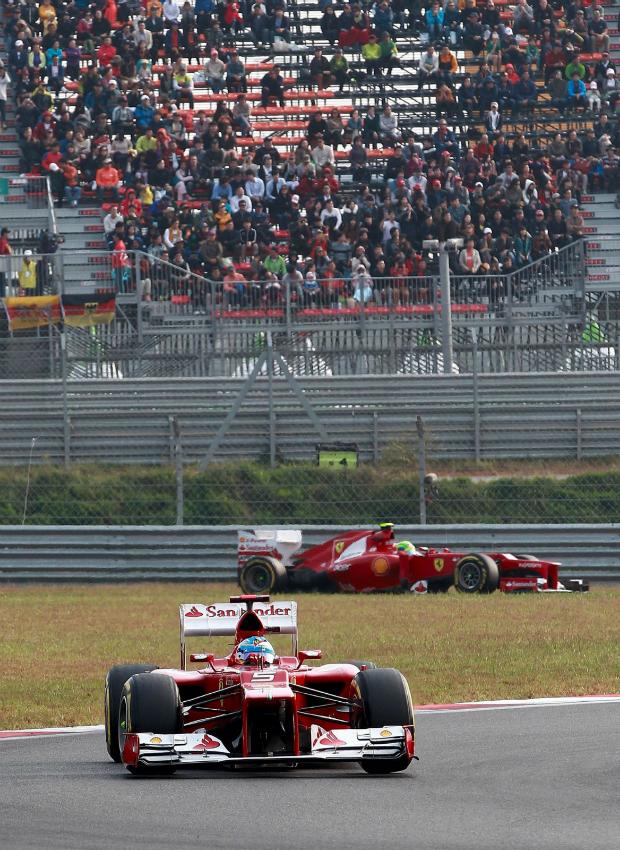 Felipe Massa chegou a ficar a um segundo de Fernando Alonso no GP da Coreia do Sul (Foto: EFE)