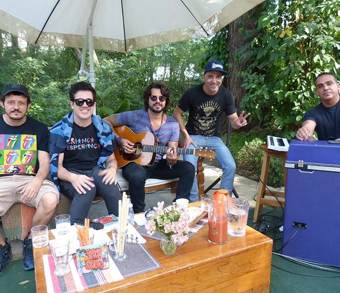 Jota Quest animou o sábado no 'É de Casa' (Foto: Janaína Ornellas/Gshow)