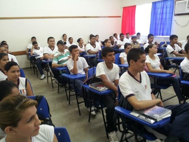 Projeto é desenvolvido em escolas do Amazonas (Foto: Divulgação/SEC)