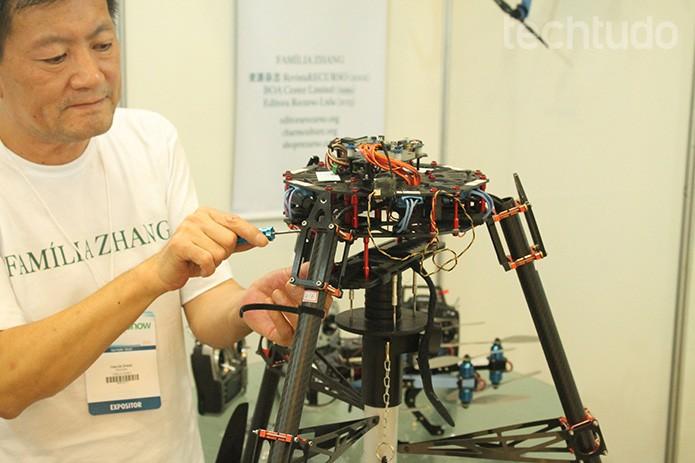 DroneShow reuniu expositores e amantes de drones da América Latina (Foto: Leonardo Ávila/TechTudo)