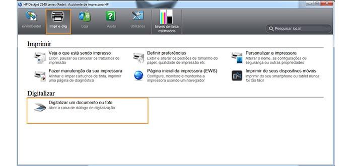Selecione a opção de digitalizar no software da multifuncional ou scanner (Foto: Reprodução/Barbara Mannara)